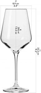 6 grandes verres à vin blanc Avant-Garde de Krosno