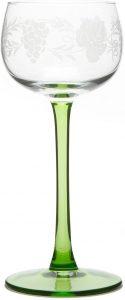 6 verres à vin d'Alsace avec motif grappe de Böckling