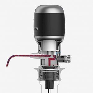 L'aérateur de vin électronique Pro V2 de Vinaera